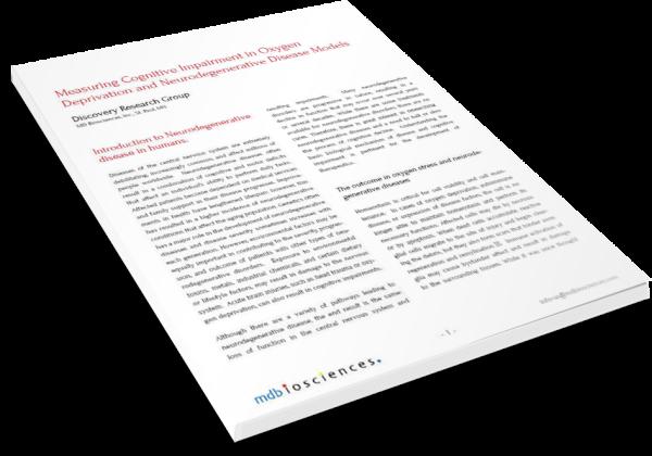 Cognitive impairment neurodegenerative diseases MDBiosciences preclinical CRO resized 600