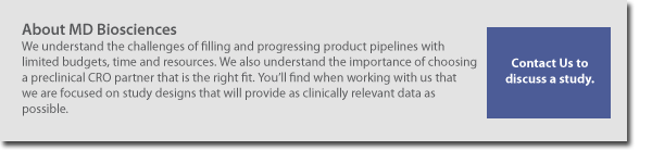 MD Biosciences is a preclinical contract research organization (non-clinical CRO, pre-clinical, pre clinical CRO)