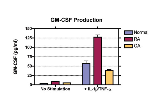 GMCSF production in synoviocyte screening assay. MD Biosciences preclinical contract research (CRO)
